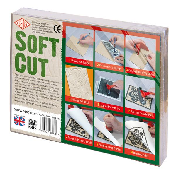 Essdee SoftCut Carving Blocks 150x100x3.0mm - 10 Pack