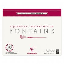 Fontaine Watercolour Pad 300g. 24x30 cm. - 25 Sheets