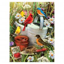 R&L Junior Small A4 - Garden Birds