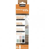 Pebeo Porcelaine 150 Initiation Set Chalky Colors 6 x 20 ml.