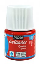 Pebeo Setacolor Opaque 45 ml. - 80 Red