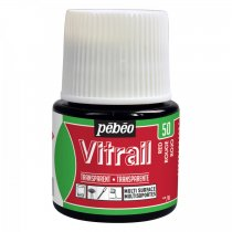 Pebeo Vitrail Transparent Glass Paint - 50 Red