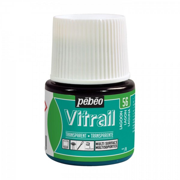 Pebeo Vitrail Transparent Glass Paint - 56 Lagoon