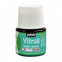 Pebeo Vitrail Transparent Glass Paint - 57 Aqua Green