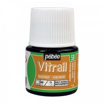 Pebeo Vitrail Transparent Glass Paint - 59 Amber Brown