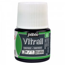 Pebeo Vitrail Transparent Glass Paint - 60 Smoky Grey