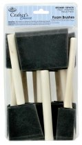 R&L Crafter's Choice Foam Brush Set 1, 2, 3 - 15 Pack