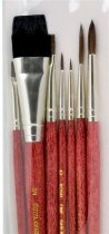 R&L Sable Hair Professional Brush Set No.9151 - 7 Pack