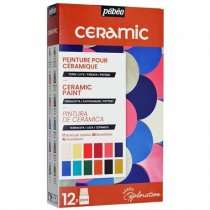 Zestaw Pebeo Ceramic Explorer 12 x 20 ml.