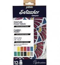 Pebeo Setacolor Shimmer Explorer Set 12 x 20 ml.